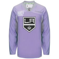 Los Angeles KINGS RBK NHL Hockey Fights Cancer Practice Jersey 100% Original