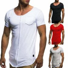 Stylish Men's Tee Shirt Slim Fit O Neck Short Sleeve Muscle Casual Tops T Shirts