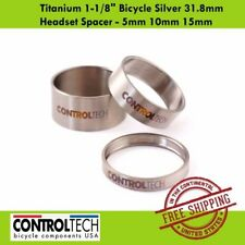 """Controltech Titanium 1-1/8"""" Bicycle Silver 31.8mm Headset Spacer - 5mm 10mm 15mm"""