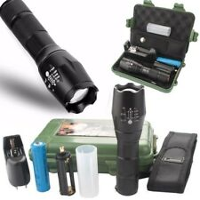 Tactical 50000LM Zoom XML T6 LED Flashlight Torch+18650 Battery Charger Case