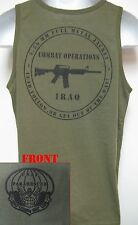 PARARESCUE TANK TOP/ IRAQ COMBAT OPS/ OD GREEN/ MILITARY/  NEW
