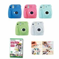 Fujifilm Instax Mini 9 Instant Camera 5 Packs Film +Sticker Gift Fuji 50 Photo 8