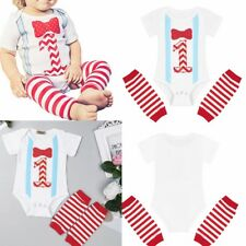 Infant Baby Boy Romper First Birthday Year Party Leg Warmers Clothes Outfit
