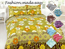 Duvet Cover set with Pillow Case Quilt Cover Bedding Set Poly-cotton All sizes