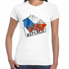 Made in Czech Republic - Flag and map - Ladies T Shirt - Country, Gift, Tee