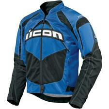 Icon Contra Biker Jacket - Blue Supermoto Street Motorcycle