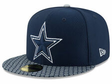 DALLAS COWBOYS NFL OFFICIAL 2017 ON FIELD NEW ERA 59FIFTY FITTED HAT/CAP NWT