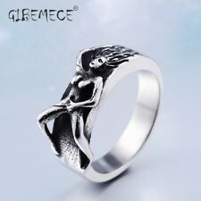 Unique Naked Woman Ring Stainless Steel Special Cool Mans Trendy Jewerly US Size