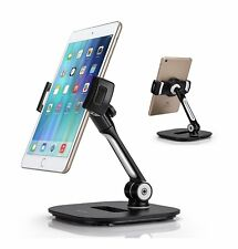 Tablet Stand, Cell Phone Stand, Stylish Aluminum Folding 360° Swivel iPad iPhone