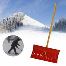 Snow Shovel Pusher Steel with Wooden Handle Garbage Shovel Cleaning Tool GA
