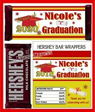 RED AND GOLD GRADUATION FAVORS CANDY BAR WRAPPERS HERSHEY BAR WRAPPERS
