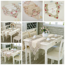 40*180cm Embroidered Table Runner Hollowed Table Cloth Fabric Floral Lace New.