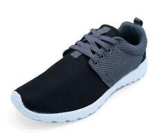 LADIES BLACK GREY RUNNING TRAINERS GYM PUMPS PLIMSOLLS WALKING SPORTS SHOES 3-8
