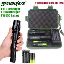 Tactical 20000LM 5 Modes T6 LED Torch Flashlight Light &18650Battery &Charger T1