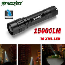 Tactical 15000LM 3 Modes T6 LED Zoomable Flashlight Torch Lamp Light Fit 18650 p