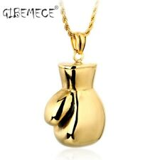 Fashion Men Women 316L Stainless Steel Pendant Necklace Boxing Glove Boy's Cool