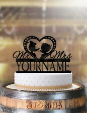 Personalized Donald and Daisy Profile Wedding Cake Topper