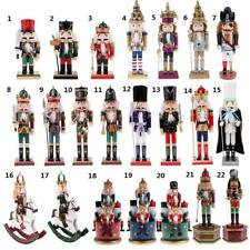 Vintage Wooden Nutcracker Soldier Figures Model Wind Up Music Box Home Ornaments