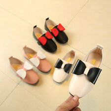 New Kids Girls Fashion Casual Leather Shoes Baby Princess Party Flats Shoes Size