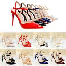 Women Patent Leather Fashion Pointed Toe High Heels Stilettos Simple Pumps Shoes