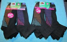 Fruit of the Loom Girls Ankle Socks Low Cut Socks Arch Support M 10 1/2-4/L 4-10