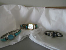 Sterling Silver w Semi Precious Gemstones Men Watch or Womens Watches