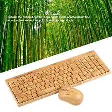2.4G Bamboo Wireless Optical Mouse Mice PC Laptop Computer Wooden Wood Set