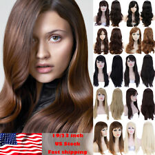 Fashion Full Wig Real Sexy Women Long Straight Curly Wave Synthetic Hair Costume