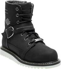 Harley-Davidson Women's Darton 8-Inch Leather Motorcycle Boots D84195 D84200