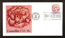 FIRST DAY COVER #1877 Flowers of America Camellia 18c ANDREWSCACHET U/A FDC 1981