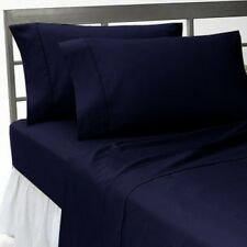 UK Bedding Collection 100% Egyptian Cotton 1000 Thread Count  Navy Blue Solid