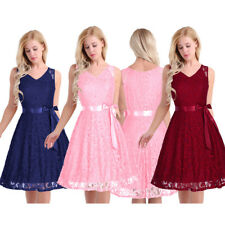 Formal Wedding Bridesmaid Short Evening Party Ball Prom Gown Cocktail Maxi Dress