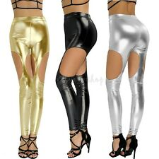 Women's PU Leather Trousers Stretchy Push Up Pencil Pants Skinny Tight Leggings