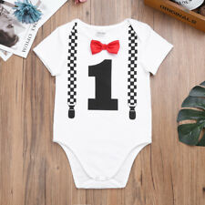 Cute Boys Baby Outfit Toddler Infant Birthday Romper Jumpsuit Bodysuit Clothes