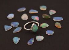 925 Sterling Silver Natural Fire Ethiopian Opal Engagement Opal Gemstone Ring