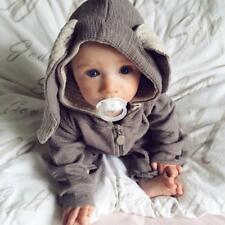 Baby Cute Bunny Ear Romper Jumpsuit Boy Girl  Gray Outfits Playsuit 0-4T Infant