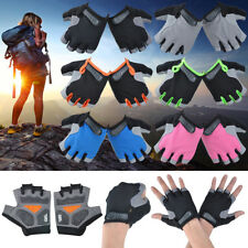 Mens Womens Half Finger Fingerless Antiskid Gel Padded Gloves Sport Cycling Bike