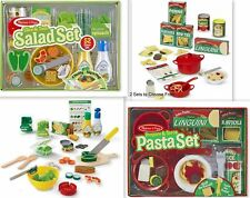 Melissa & and Doug Perfect Pasta Play Set Slice & Toss Salad Set