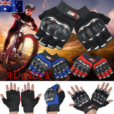 AU Men Hard Knuckle Half Finger Fingerless Outdoor Cycling Sport Tactical Gloves