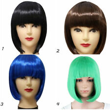 Women's Sexy Full Bangs Wig Short Wig Straight BOB Hair Cosplay Party Fashion