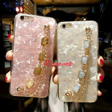 Luxury Bling Rhinestone Shiny Bracelet Hand Chain Case Cover iPhone X 7 Plus 6S