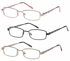 GAMMA RAY 3 Pairs of Stainless Steel Metal Readers - Choose Your Magnification
