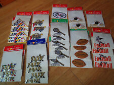 LOT OF 34 sports iron on patches football tennis golf racing