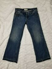 FP Free People Distressed  Boyfriend Crop Jeans 4 Button Fly Denim size 24