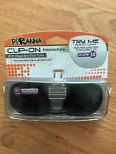 PIRANHA Polarized Clip-On Lens sunglasses with Visor case 100% UVA/UVB