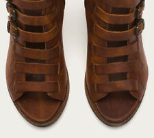 Hard to find! NEW FRYE IZZY Belted Tall Peep Toe Boots 6.5 $558