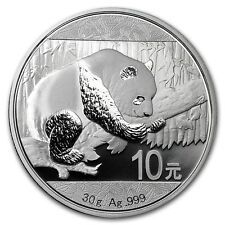New 2016 Chinese Silver Panda 30g Silver Bullion Coin - Encapsulated by Mint