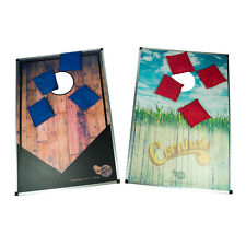 CORNHOLE TOSS GAME - Game Board Set | Corn Hole Bean Bag Yard Party Game