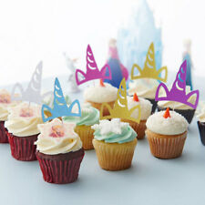 Set of 10 Party Cupcake Toppers Picks Unicorn Horn Shape Cake Party Decorations