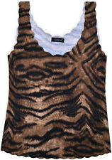 Ladies New Sleeveless Tiger Print Vest Top Womens Summer Holiday T-shirt Blouse